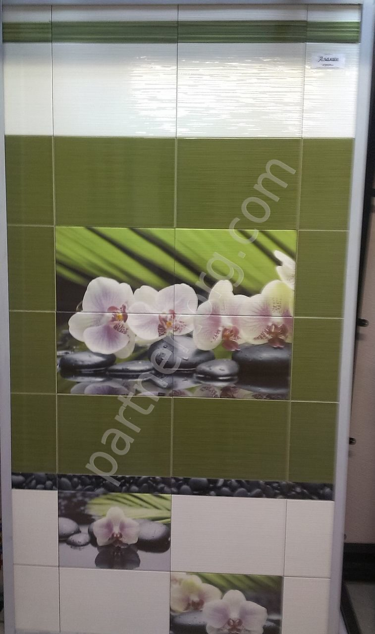 Орхидея плитка в ванной дизайн
