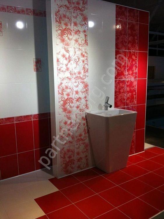 Керамическая плитка красная