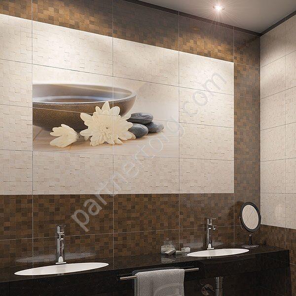 187Фиолетовый интерьер ванной