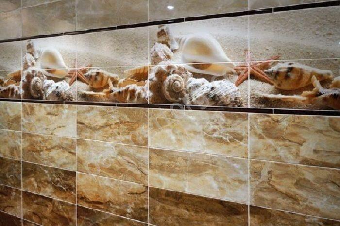Дизайн ванны плитка с ракушками
