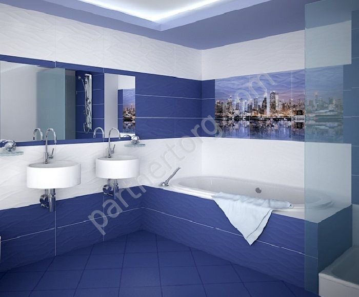 Плитка для ванной комнаты морской дизайн