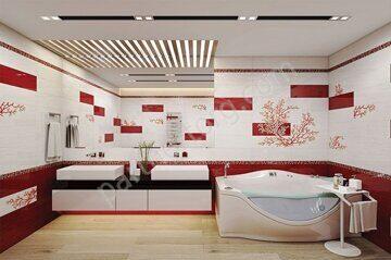 Коралл Ceramique Imperiale в интерьере ванной комнаты
