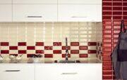 Плитка кирпичиком Кабанчик в интерьере кухни