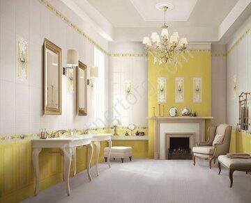 Ирисы Ceramique Imperiale в интерьере в желтых оттенках