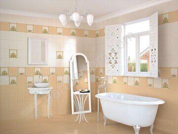 Замоскворечье Ceramique Imperiale в интерьере ванной комнаты