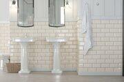 Metrotiles бежевая керамическая плитка Golden Tile в интерьере