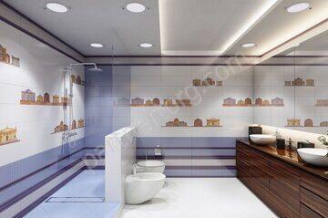 Кобальтовая сетка Ceramique Imperiale в интерьере